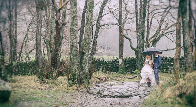 Lake district winter wedding