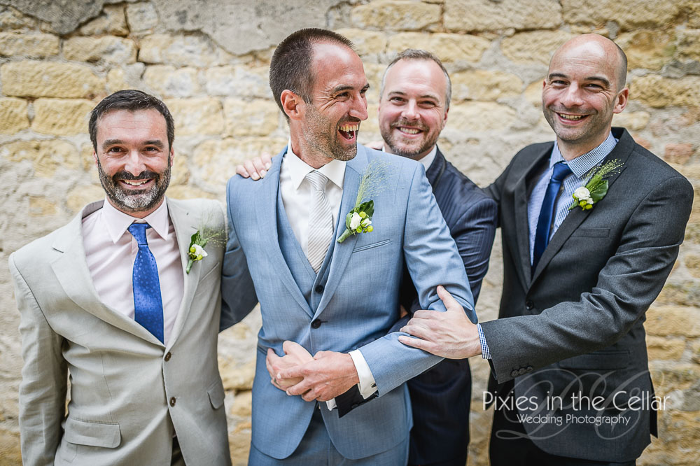 French wedding groomsmen