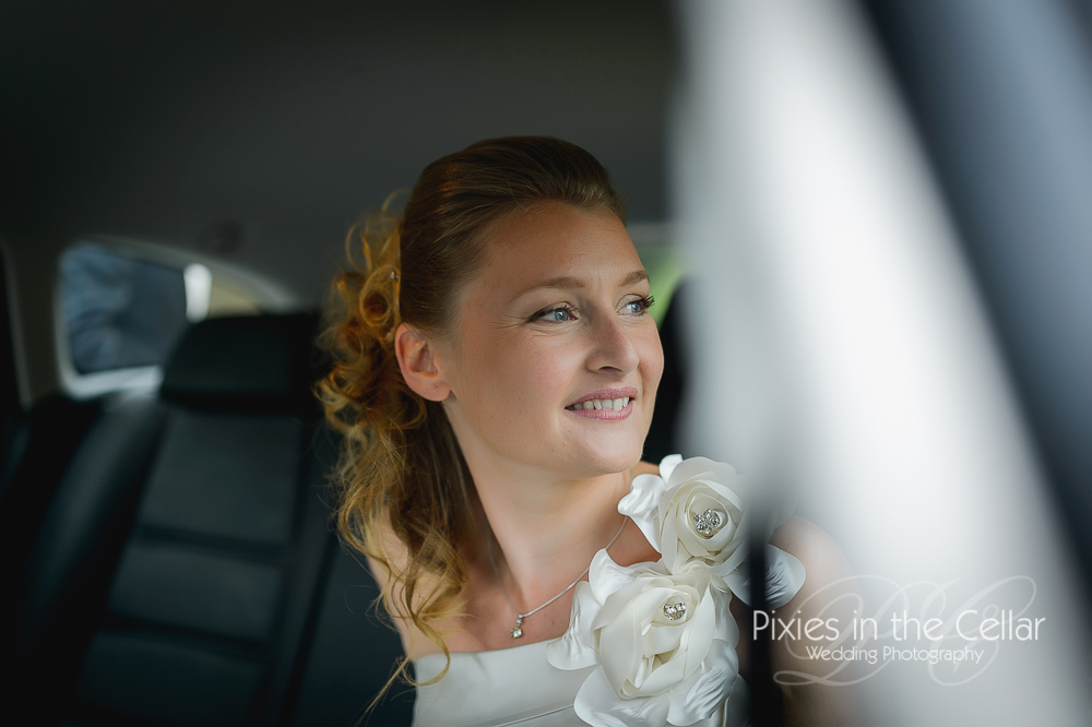 Arrival of French bride Manchester wedding photographer
