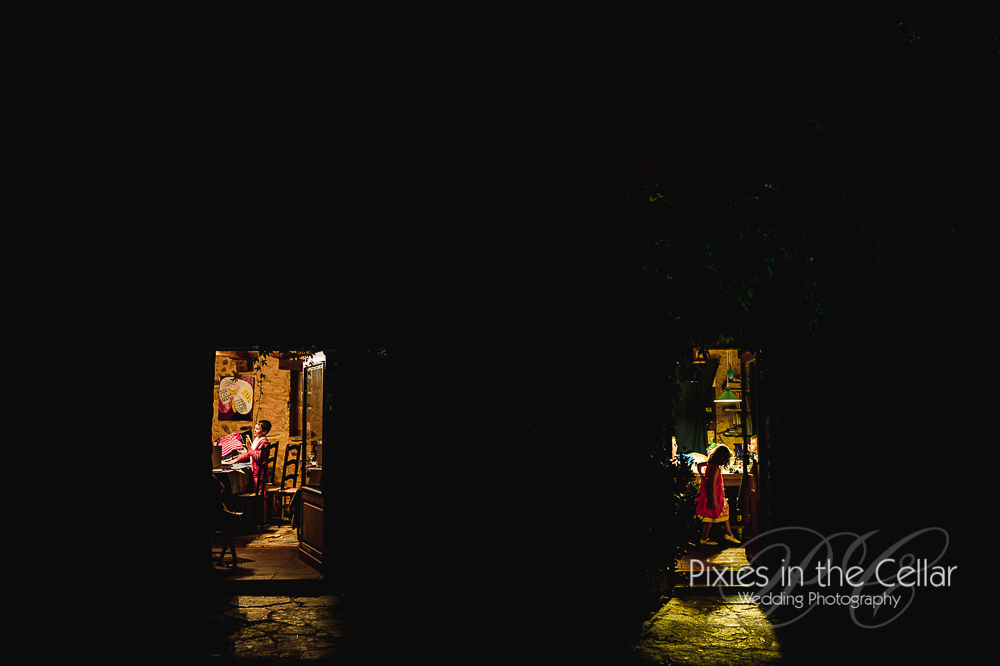 Into the night wedding photography