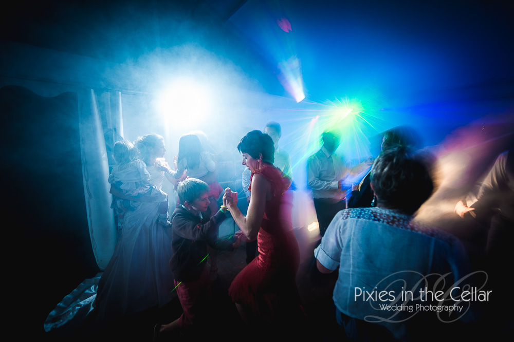 Marquee wedding disco