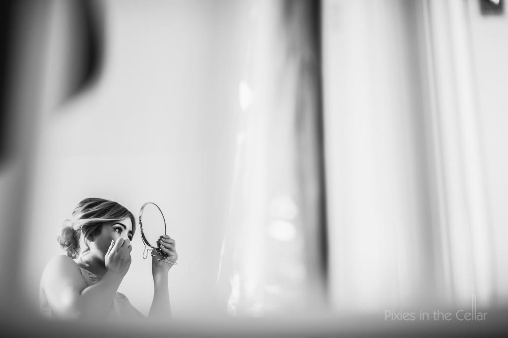 bridesmaid and mirror