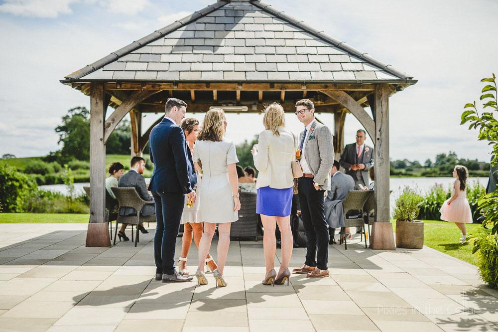 sunny cheshire wedding reception