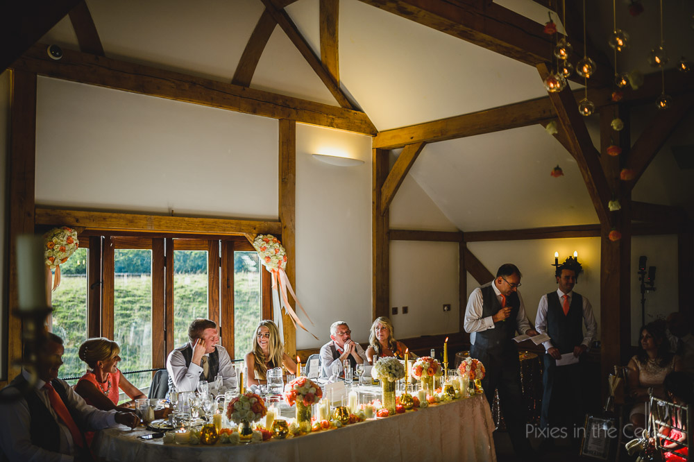 sandhole oak barn wedding speeches