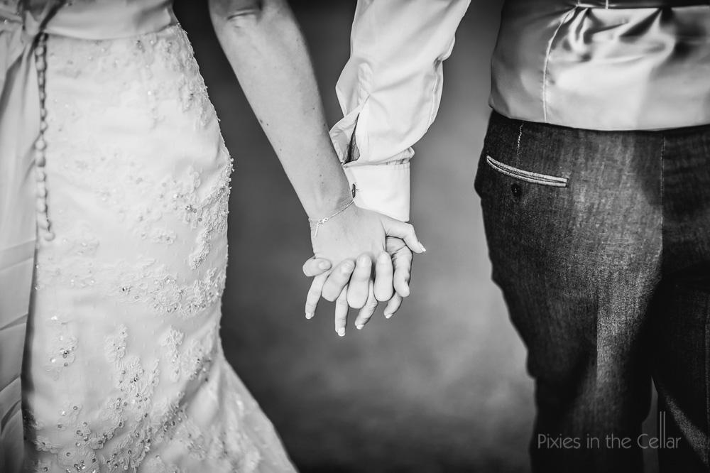 hands bride groom