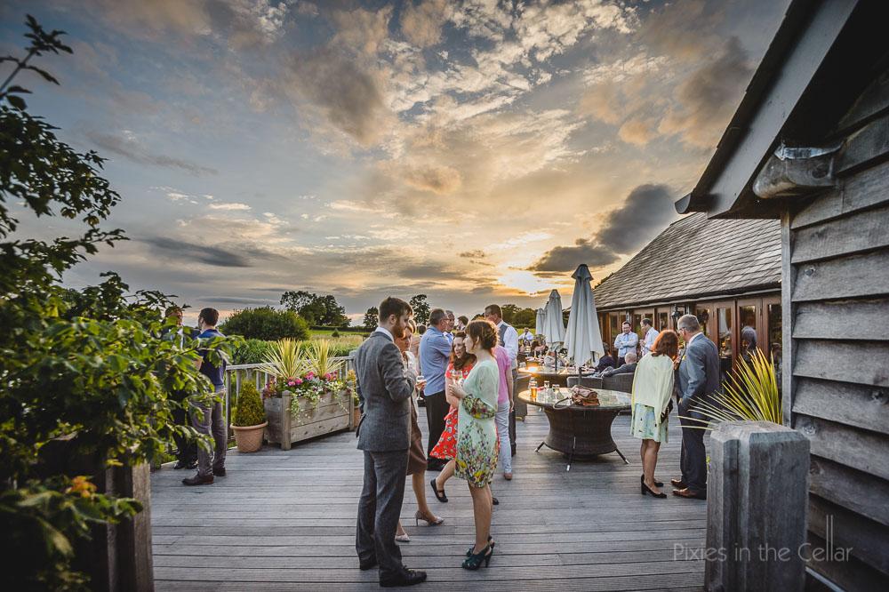 evening reception drinks sandhole oak barn