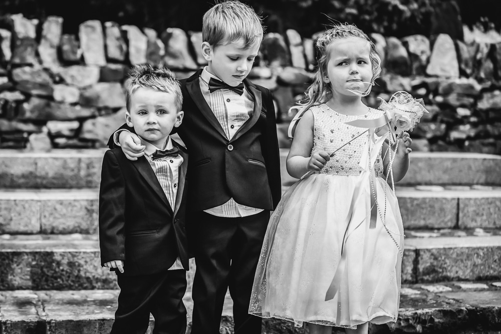 flower girl and page boys
