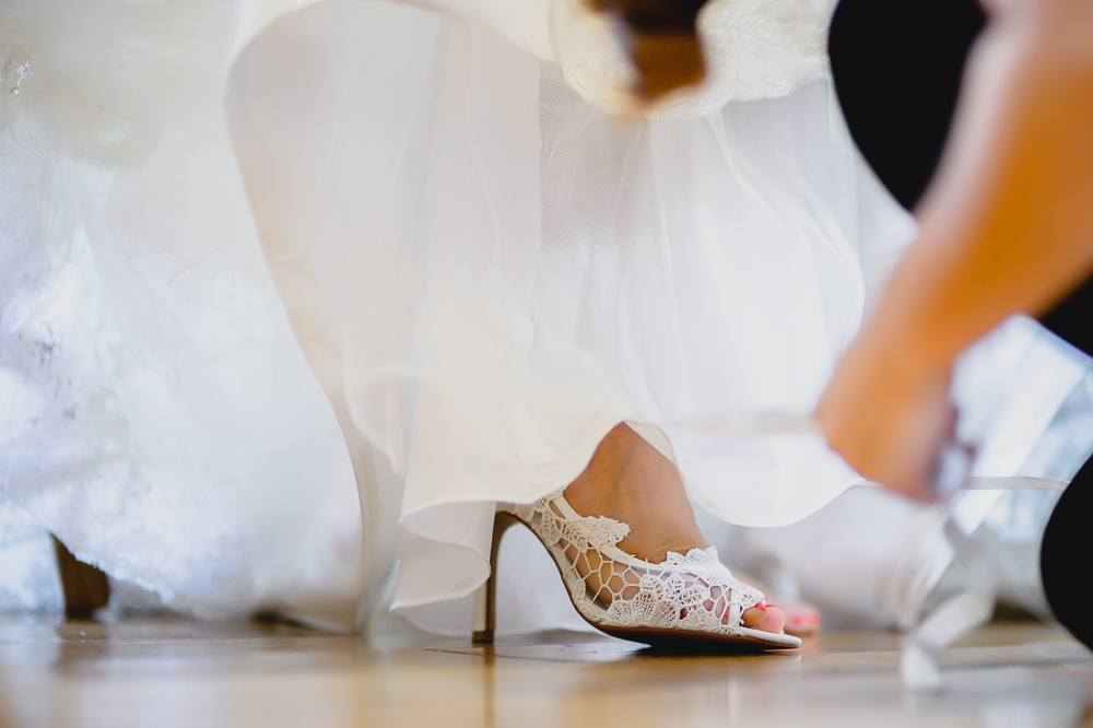 lace wedding shoe