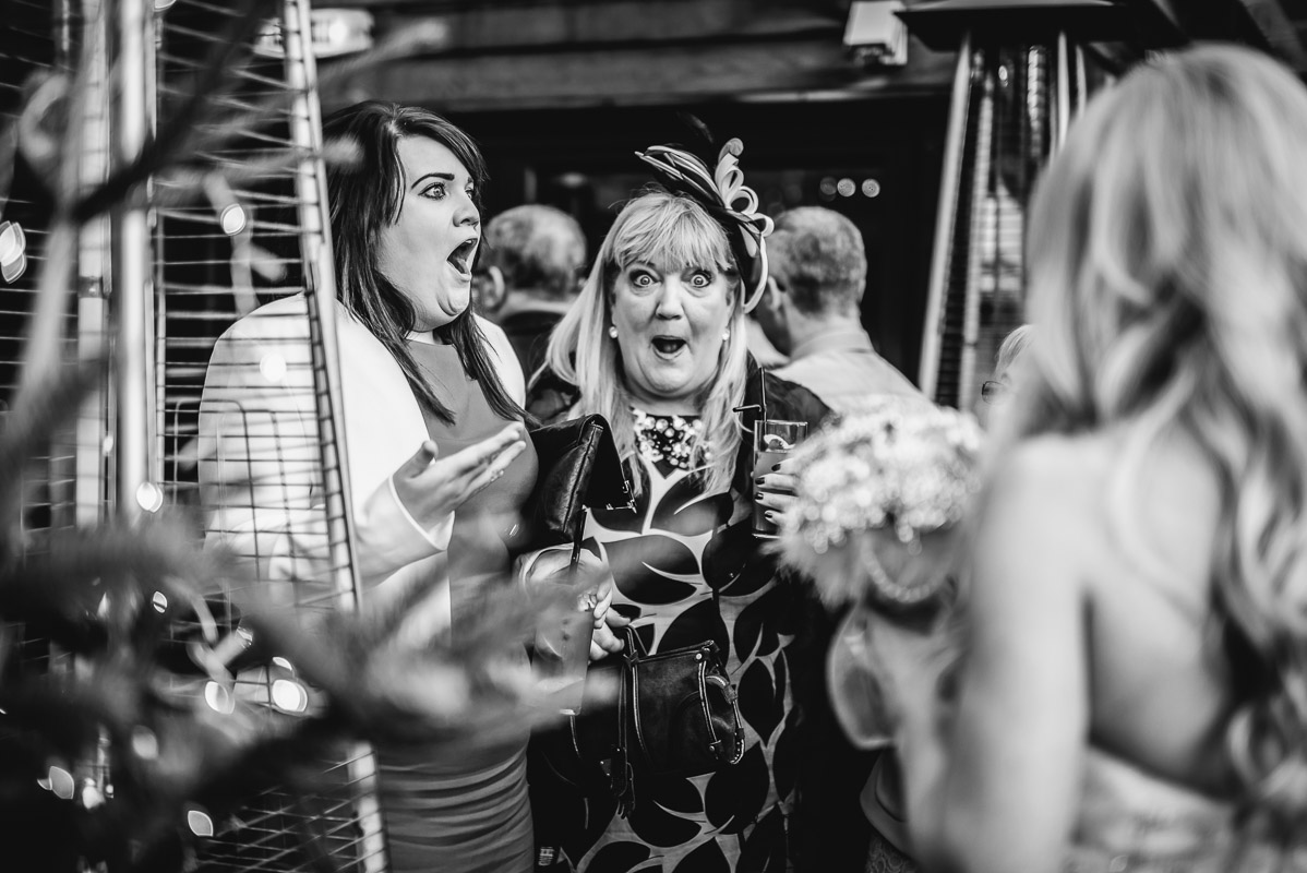 wedding guests at GJS manchester documentary photography