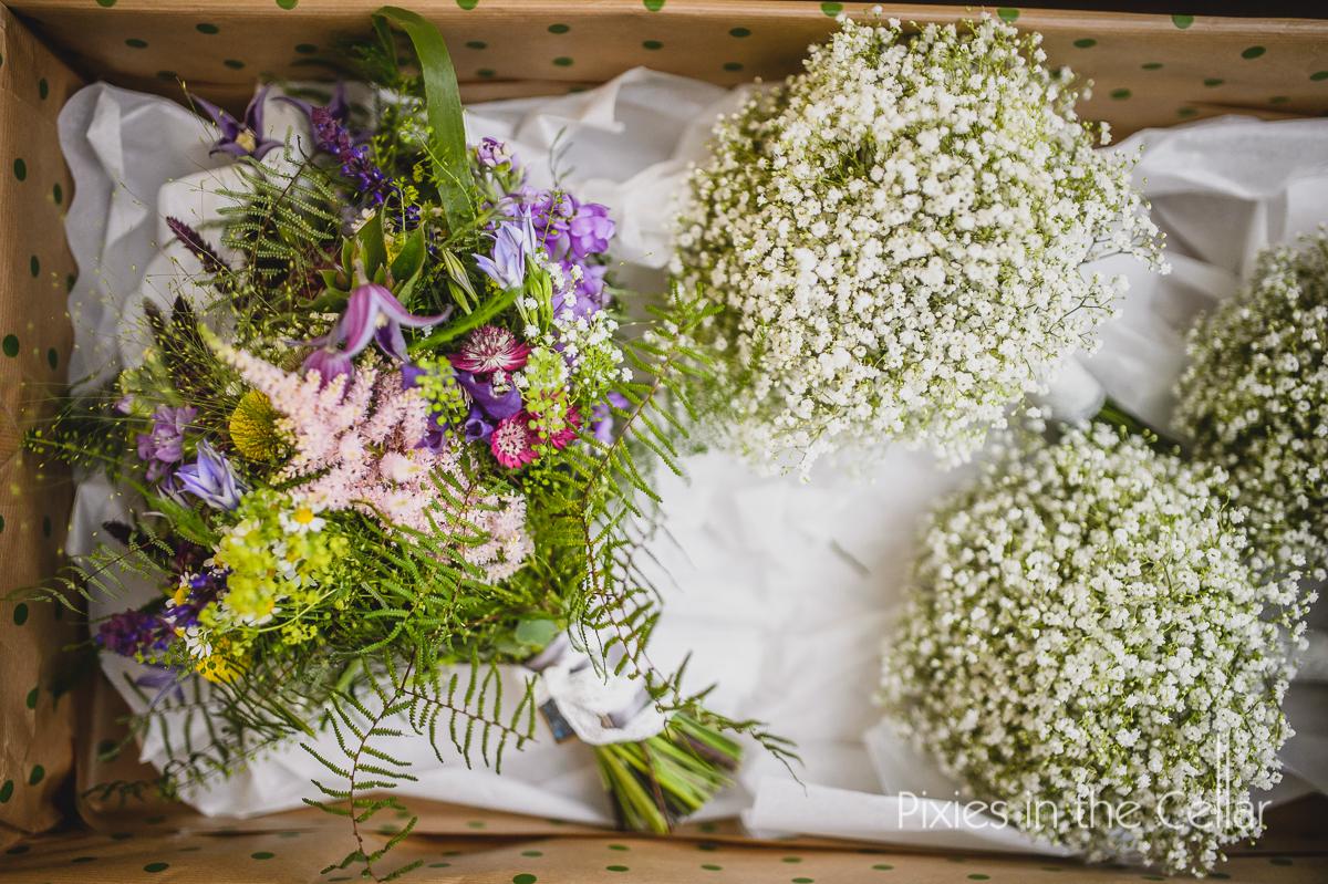rustic wedding flowers Cheshire wedding photographers