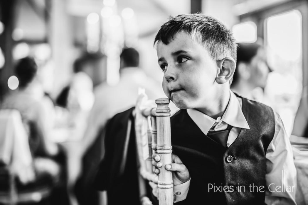 boy at wedding