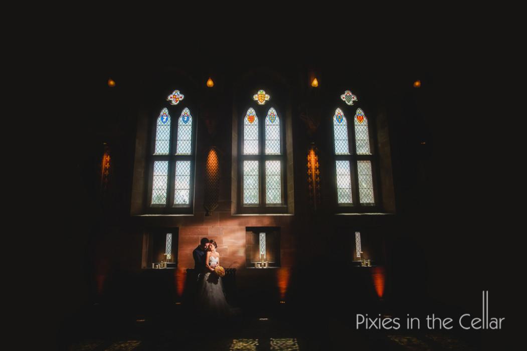 Peckforton castle bride groom