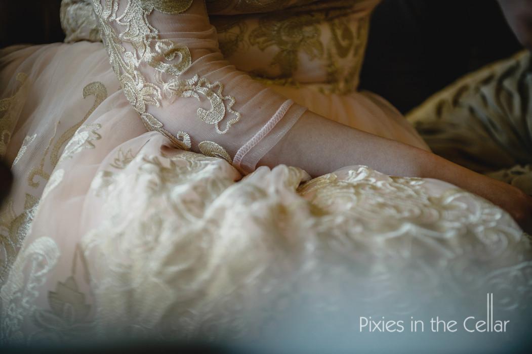 lace bridesmaid dress detail