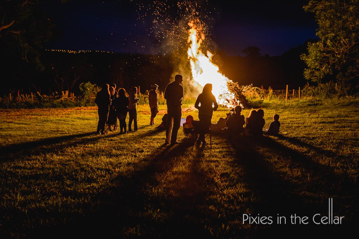 rustic countryside wedding venue campfire