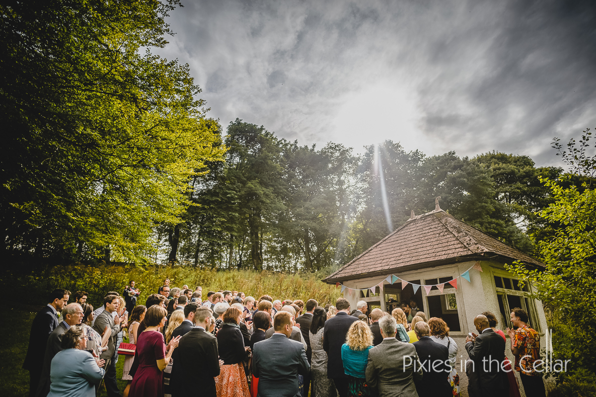 Outdoor wedding ceremony Derbyshire