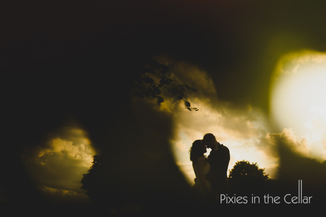 wedding moody skies