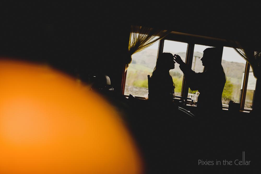 lake district wedding photography bridal prep