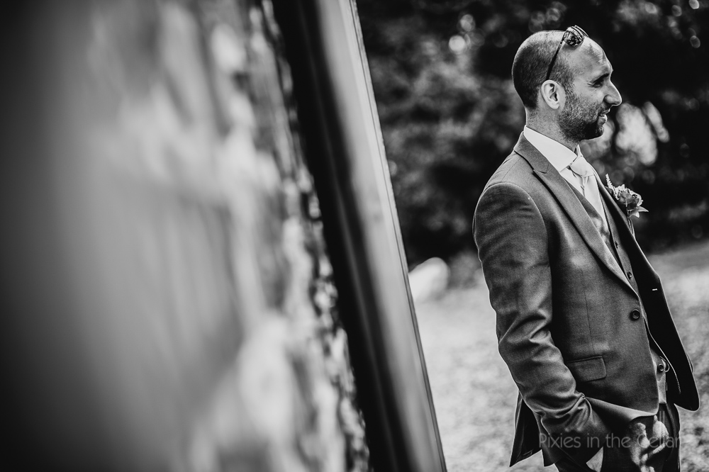 the groom waiting