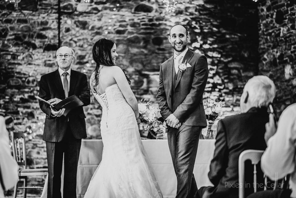 barn wedding ceremony lake district