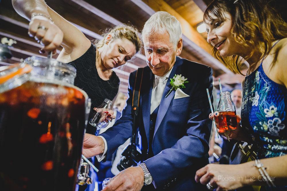 kilner jar wedding pimms and milk bottles