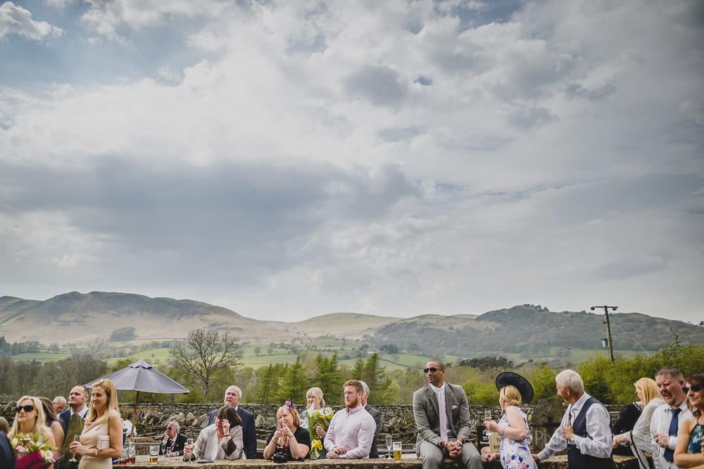Outdoor speeches Lake District wedding