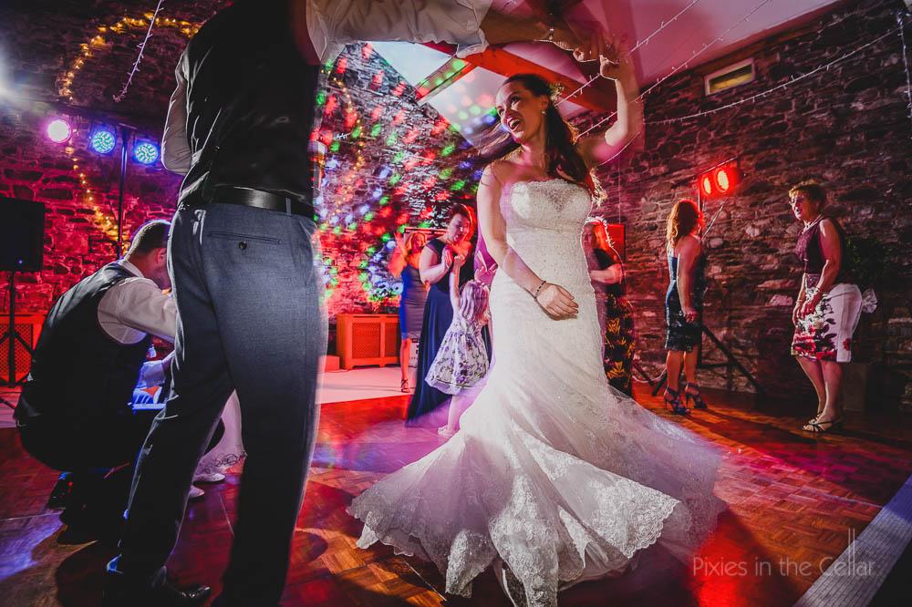 barn rustic wedding dancing