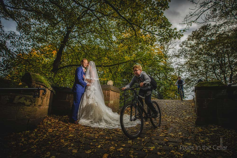 wedding, bikes, children
