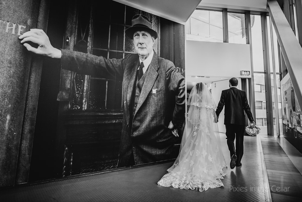 Lowry theatre wedding photography