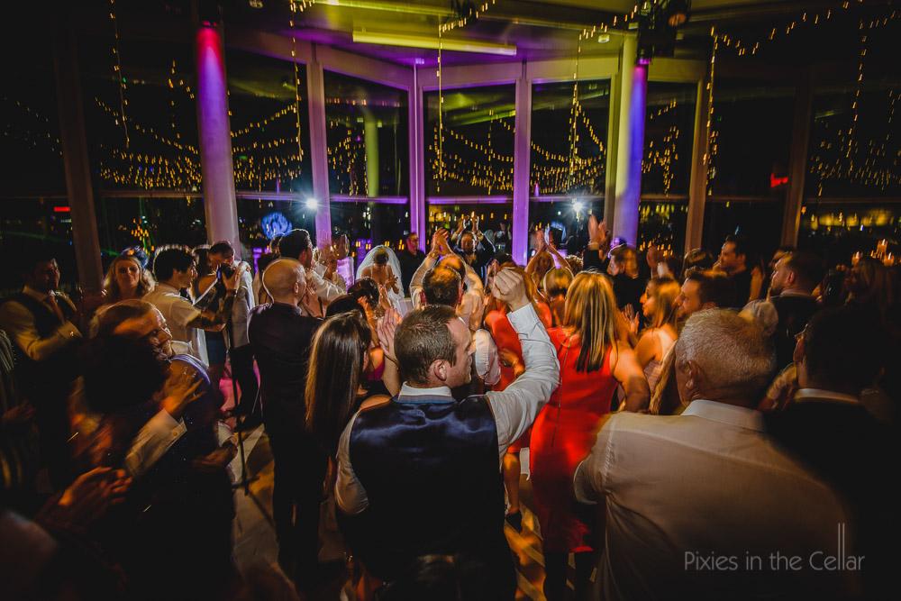 wedding night time party dance floor