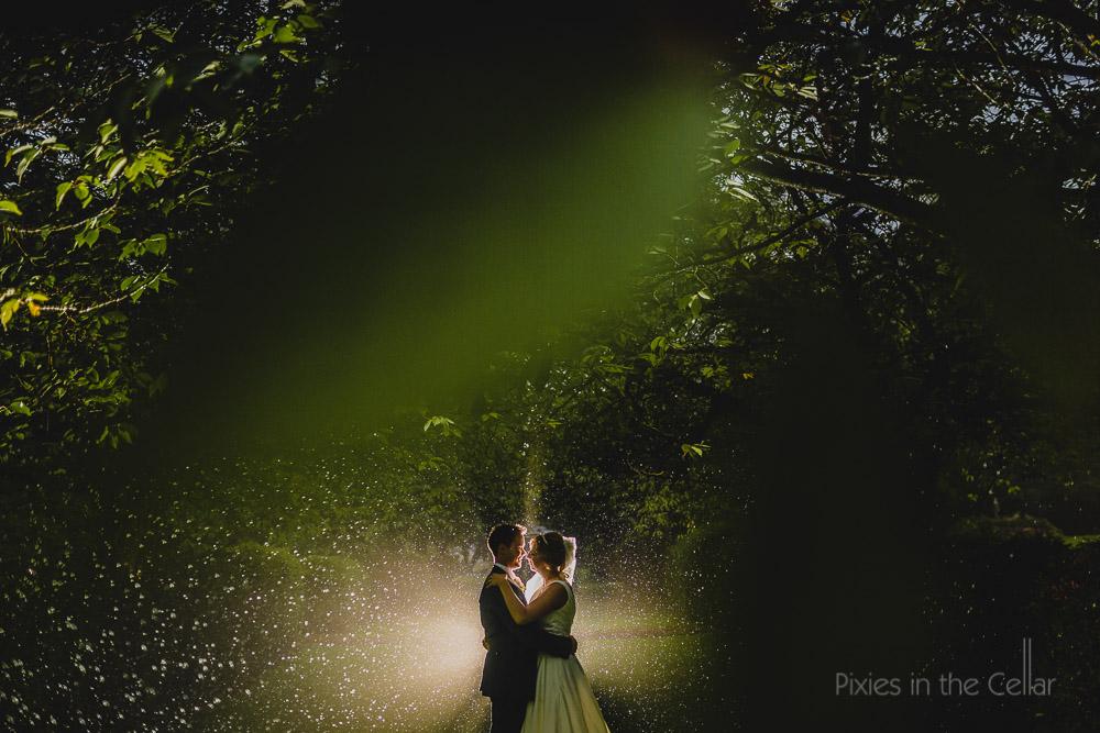 rainy summer wedding