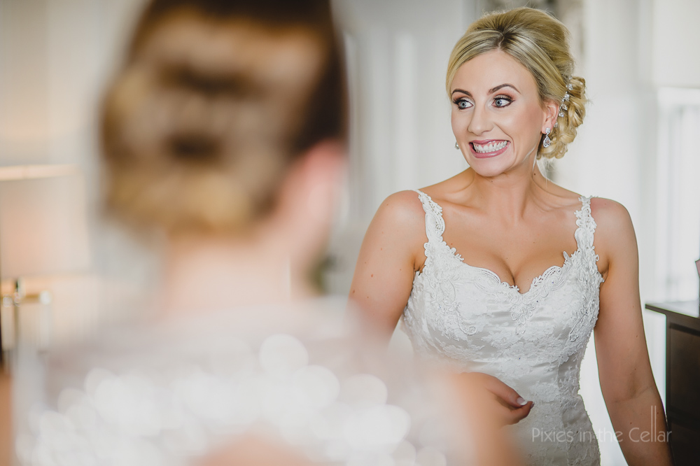 excited bridal expressions