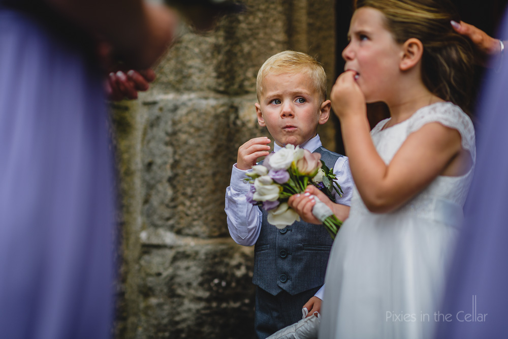 hungry page boy and flower girl