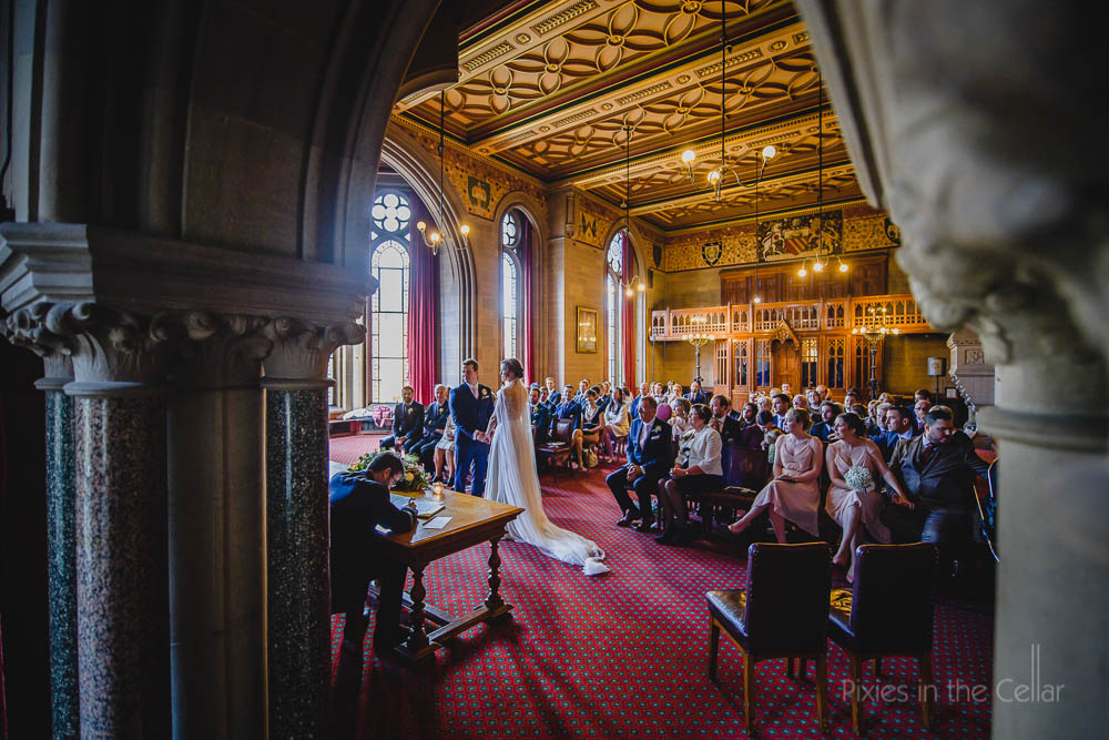 wedding ceremony Manchester town hall