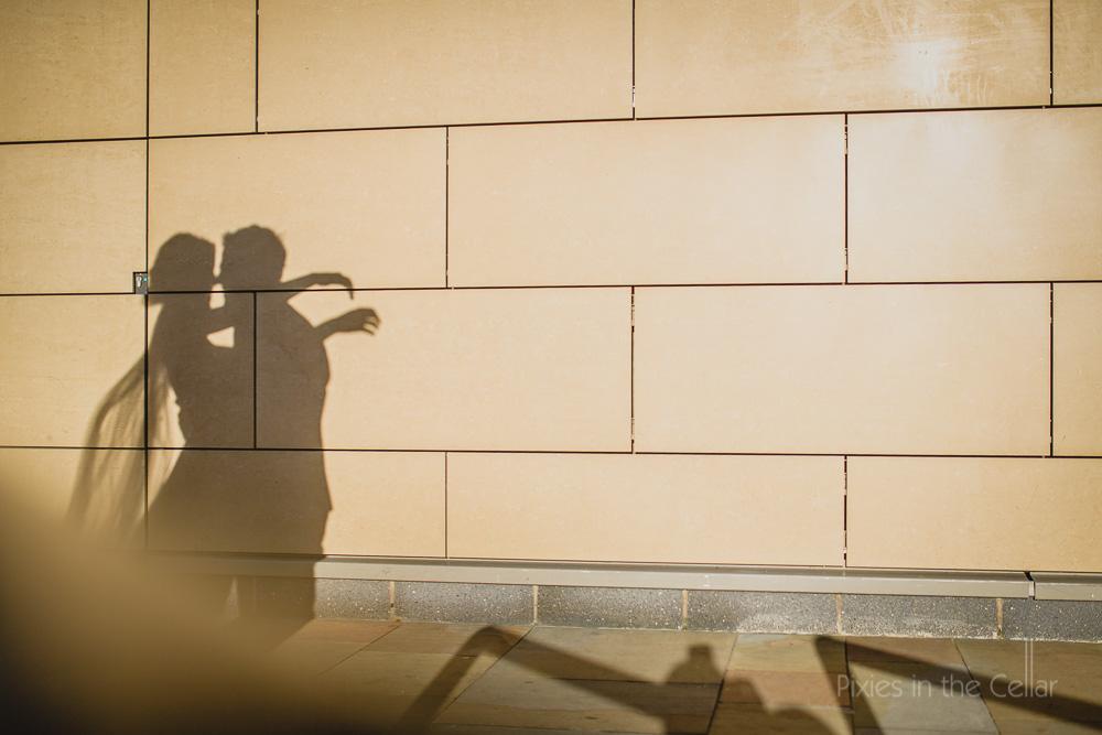 winter wedding photography shadows