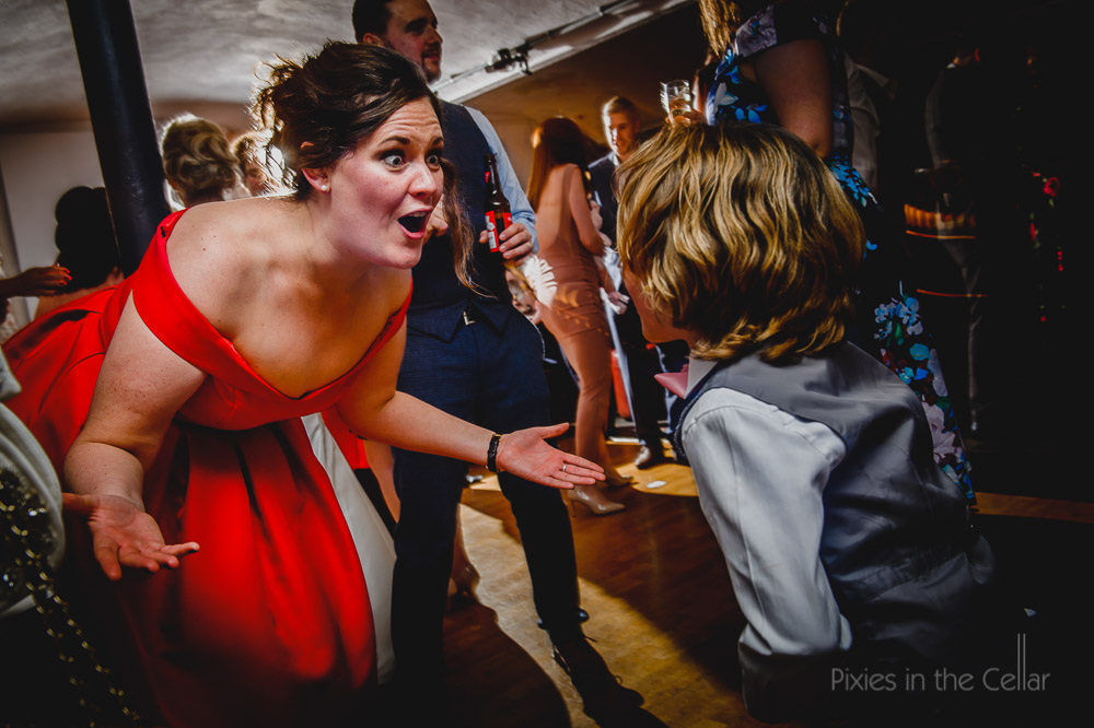 evening party photography at west mill wedding