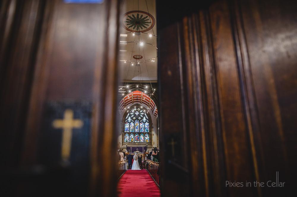 grand church wedding England