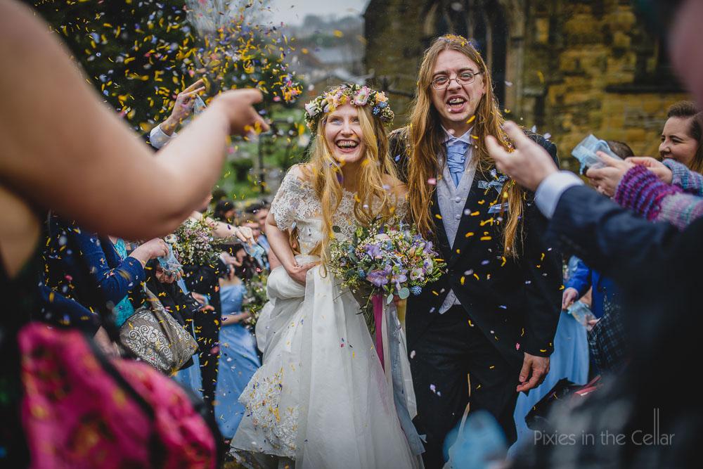 confetti aisle non-posed wedding moments