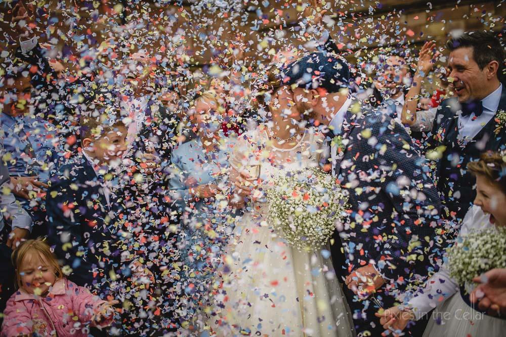 Confetti Manchester wedding