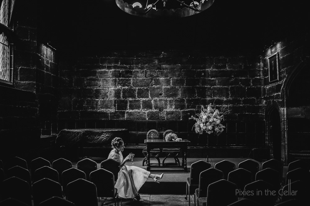 A natural moment bridal portrait, UK wedding