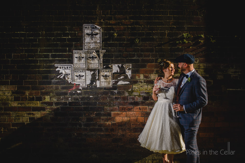 Manchester city centre wedding photo