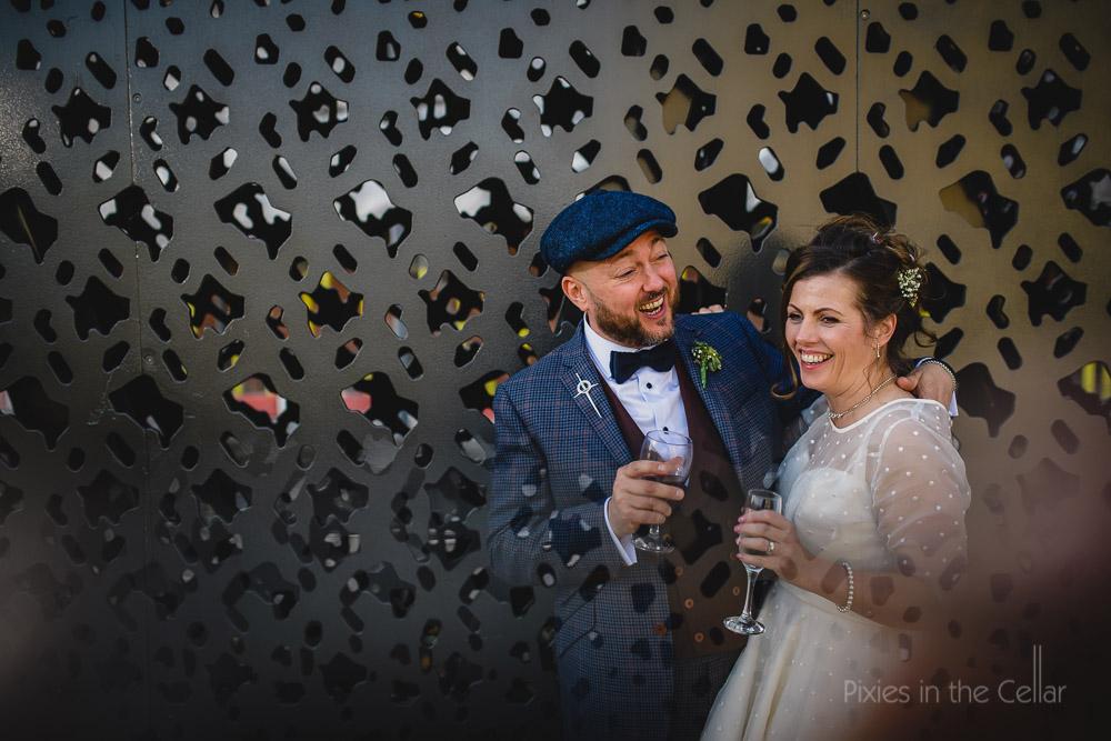 tweed flat cap wedding in Manchester