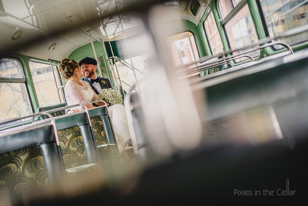 double decker wedding bus UK wedding