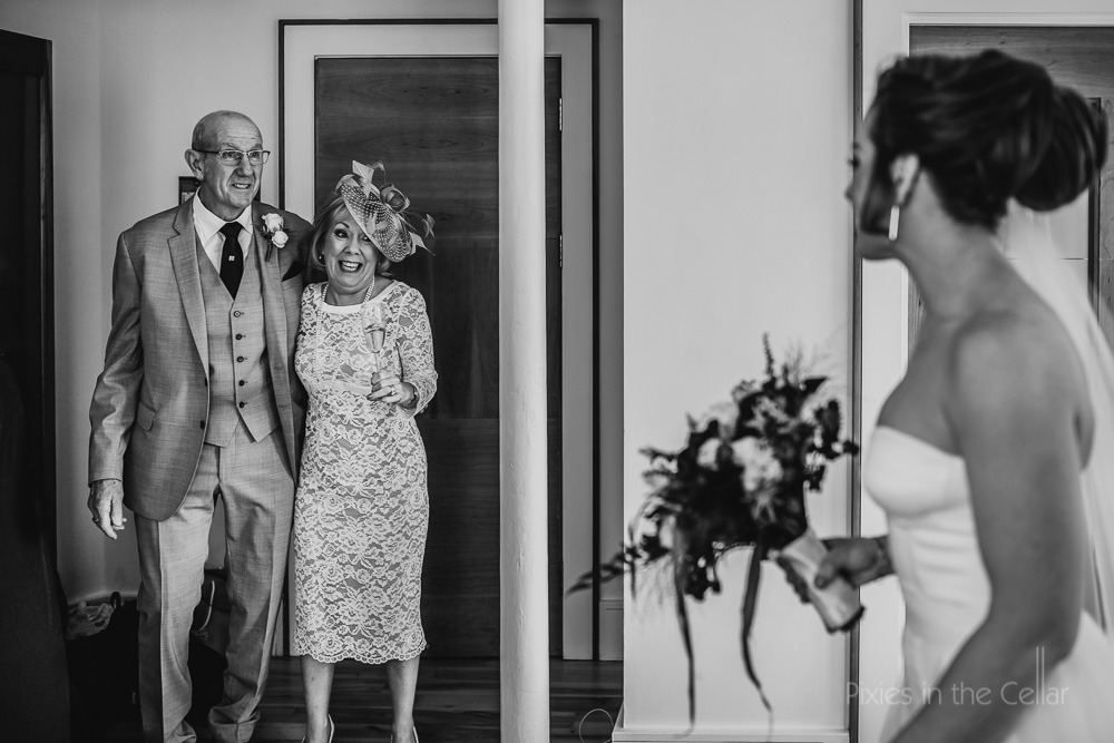 mum dad wedding reactions