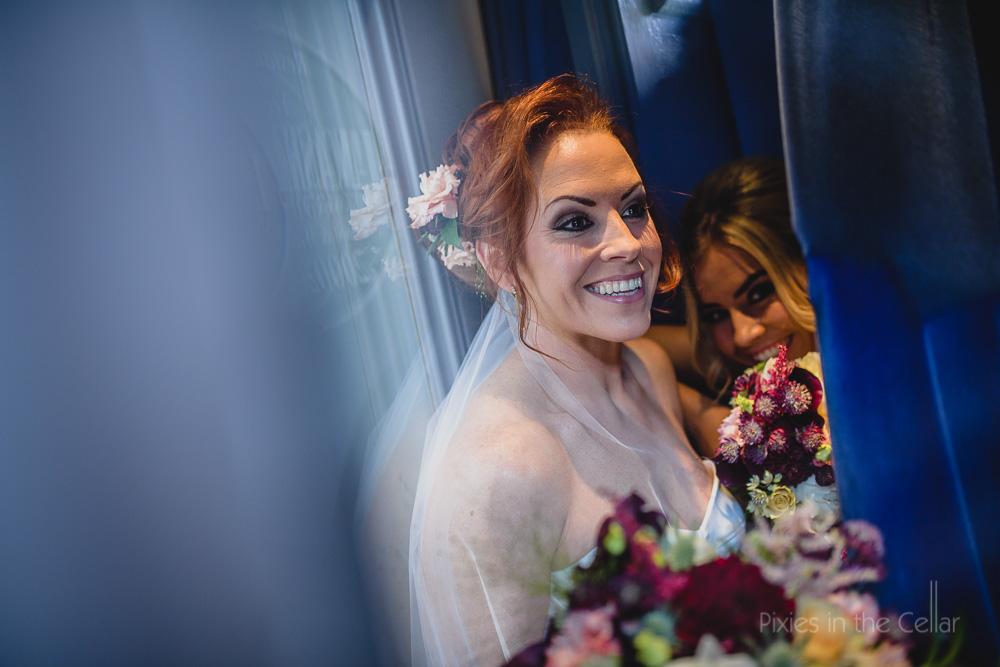 happy modern bride