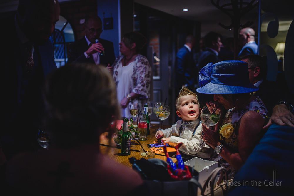 wedding reception at restaurant bar city centre
