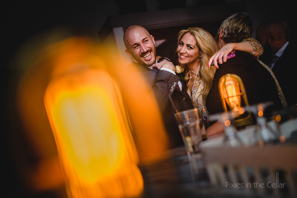 groom and guest party love