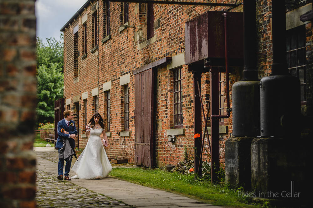 UK wedding photographers story of the day walking to the tipi