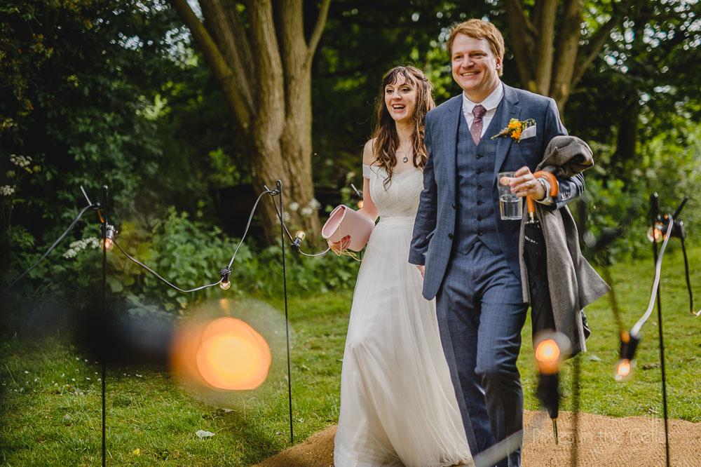 wedding festoon lighting to tipi
