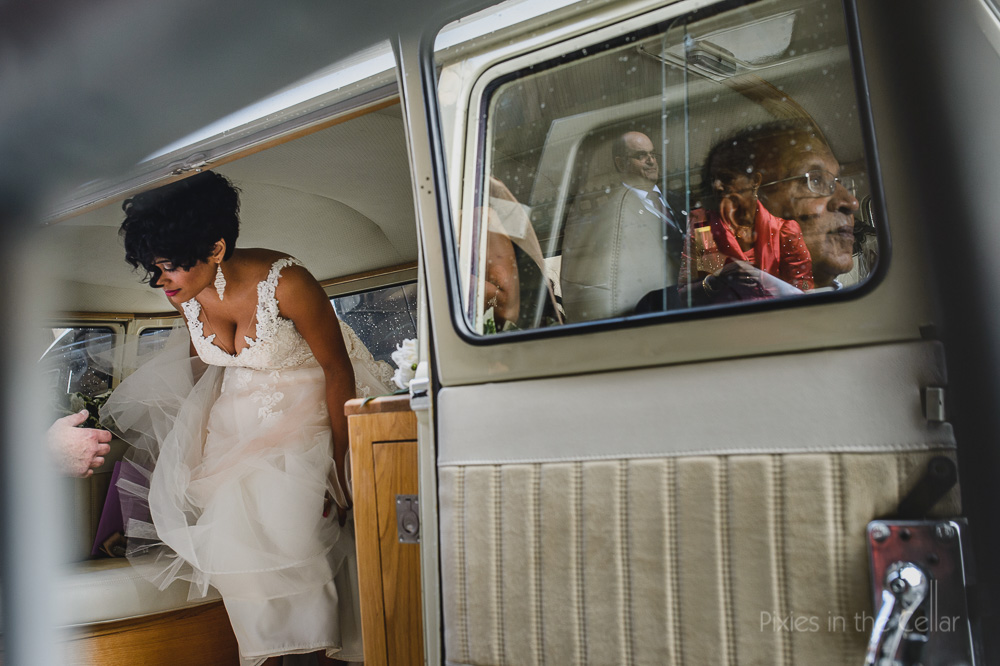 wedding reflections on arrival
