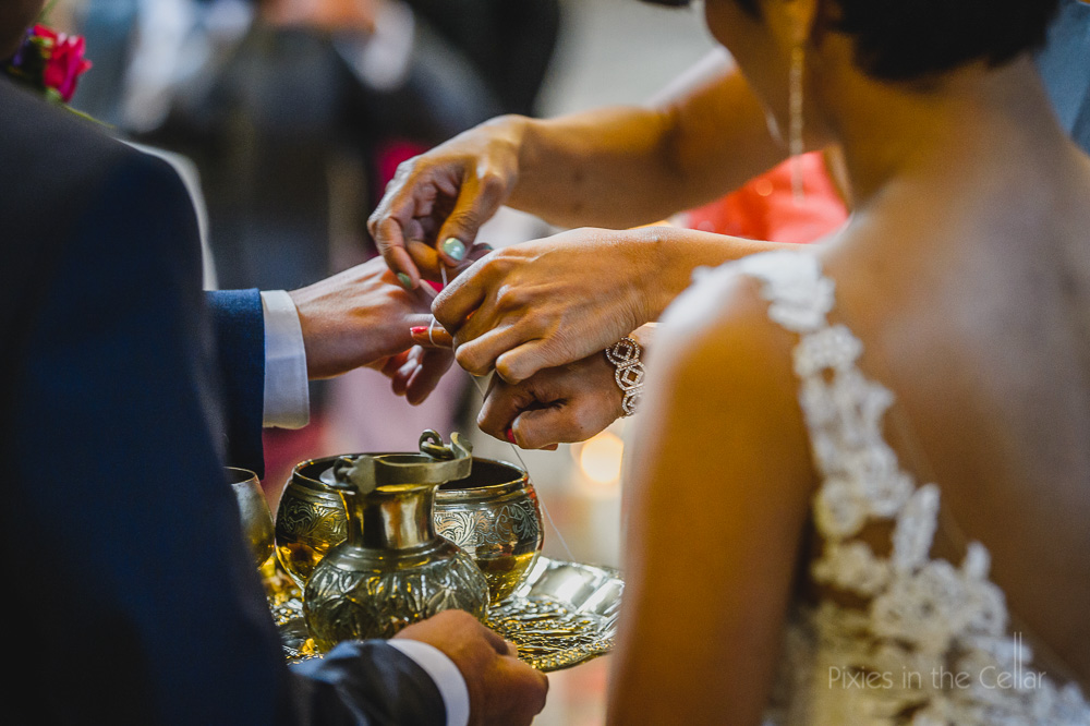 Sri-Lankan wedding ceremony finger tying